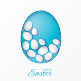 Easter eggs icons. Vector illustration. Easter eggs for Easter holidays design on white background. Easter Greating card. Paper cut Eggs, Origami White Oval Stock Photo