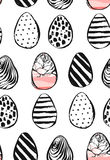 Easter eggs icons. Vector illustration. Easter eggs for Easter holidays design on white background. Hand drawn vector abstract creative universal Happy Easter Royalty Free Stock Photos