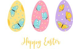 Easter eggs icons. Vector illustration.Easter holidays design on white background. Easter eggs with different texture. Easter eggs icons. Easter holidays design royalty free illustration