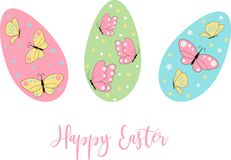 Easter eggs icons. Vector illustration.Easter holidays design on white background. Easter eggs with different texture. Easter eggs icons. Easter holidays design vector illustration