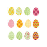 Easter eggs icons. Vector illustration. Royalty Free Stock Photography