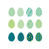 Easter eggs icons. Vector illustration. Royalty Free Stock Image