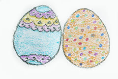 Easter eggs icons Royalty Free Stock Photos