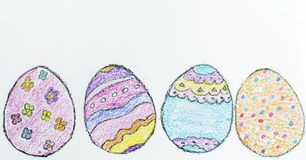 Easter eggs icons Stock Photo