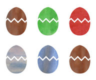 Easter eggs illustrated in watercolor Royalty Free Stock Photos