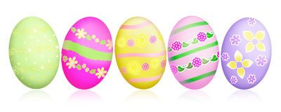 Easter eggs illustration Royalty Free Stock Images