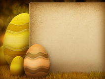 Easter eggs - illustration with copy space Royalty Free Stock Photo