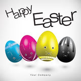 Easter Eggs Illustration In CMYK Colors Royalty Free Stock Photography