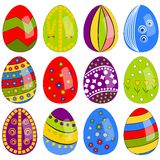 Easter eggs illustration set Royalty Free Stock Photos