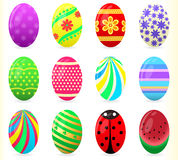 Easter eggs -Illustration. Set of colourful Easter eggs royalty free illustration