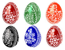 Easter eggs  illustration. Vector illustration of Easter eggs on a white background Royalty Free Stock Photos