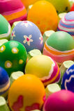 Easter Eggs In A Big Box Royalty Free Stock Photo