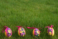 Easter Eggs In Meadow Royalty Free Stock Image