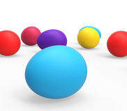Easter Eggs Indicates Empty Space And Colourful Royalty Free Stock Photo