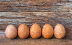 Easter eggs isolate on wood background. Stock Photography