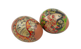 Easter eggs isolated on a white Royalty Free Stock Images
