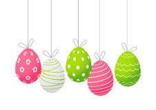 Easter eggs isolated on white Stock Image