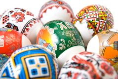 Easter eggs isolated on white Stock Photo