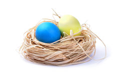 Easter eggs isolated on white background Stock Photos