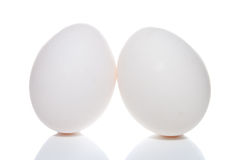Easter eggs  isolated on a white Royalty Free Stock Photo