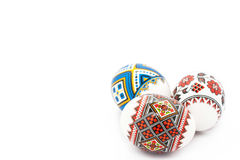 Easter eggs isolated on white background Royalty Free Stock Photo
