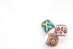 Easter eggs isolated on white background Stock Images