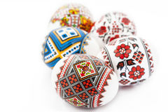 Easter eggs isolated on white background Royalty Free Stock Image