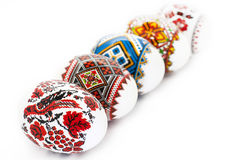 Easter eggs isolated on white background Royalty Free Stock Photography