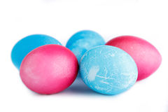 Easter eggs isolated on white background. Royalty Free Stock Photo
