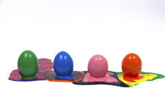 Easter eggs. Isolated white backgrounds Royalty Free Stock Photos