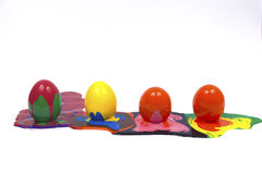 Easter eggs. Isolated white backgrounds Royalty Free Stock Photography