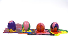 Easter eggs. Isolated white backgrounds Stock Photo