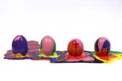 Easter eggs. Isolated white backgrounds Stock Photography