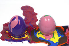 Easter eggs. Isolated white backgrounds Royalty Free Stock Images