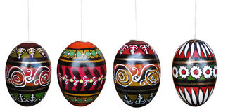 Easter eggs isolated on white with clipping paths Stock Image