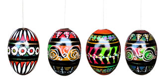 Easter eggs isolated on white with clipping paths Royalty Free Stock Photography