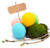 Easter eggs isolated on white Royalty Free Stock Image