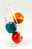 Easter eggs in lab glass Royalty Free Stock Photo