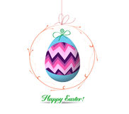 Easter eggs label card Stock Image