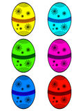 Easter eggs with lace Stock Photo