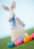 Easter eggs on lawn Royalty Free Stock Images