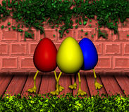 Easter Eggs with Legs Stock Image