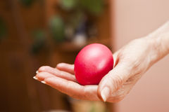 Easter eggs. Lie on a table waiting for Easter Royalty Free Stock Photos