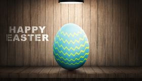 Easter eggs with the light lamp Stock Image