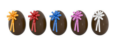 Easter eggs in line Royalty Free Stock Image