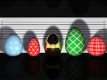 Easter eggs lineup Stock Images