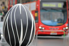 Easter Eggs in London city center - abstraction Royalty Free Stock Photo