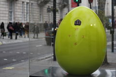 Easter Eggs in London city center - clock Royalty Free Stock Images