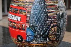 Easter Eggs in London city center - London by bike Royalty Free Stock Images