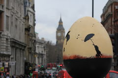 Easter Eggs in London city center - Marry Poppins. Easter Eggs put in different places of London city center. Eggs with different motives and decoration Stock Photography